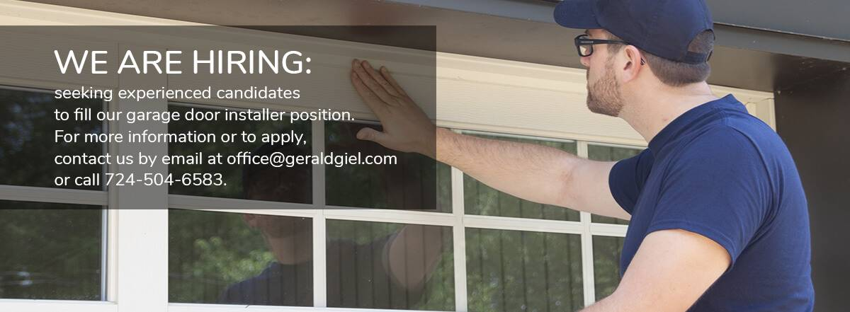 We are hiring : Garage door installer