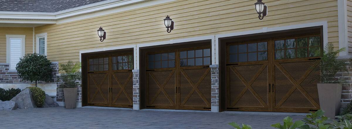 Princeton P-21, 9' x 7', Chocolate Walnut doors and overlays, 8 lite Panoramic windows
